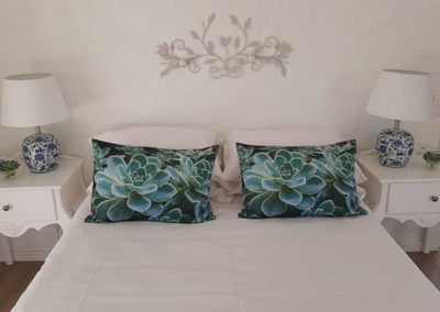 Scatter Cushions on bed